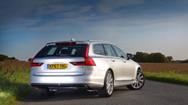 The V90's boot capacity may not be class-leading, but it's a practical shape and size
