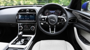 Jaguar XE saloon steering wheel