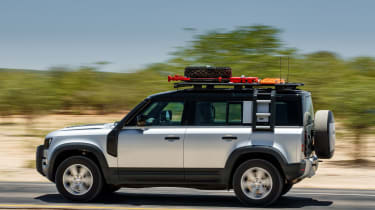 Land Rover Defender SUV side panning
