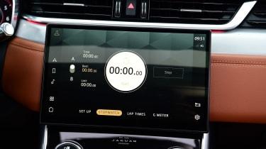 Jaguar XF saloon infotainment display