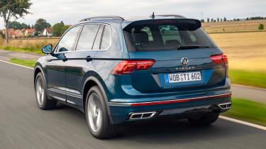 Volkswagen Tiguan SUV rear 3/4 tracking