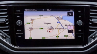 Volkswagen T-Roc SUV infotainment sat-nav