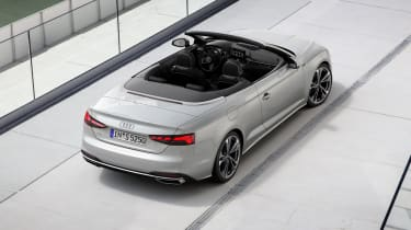 Audi A5 Cabriolet top view -rear