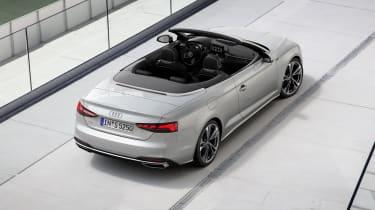 Audi A5 Cabriolet top view -rear