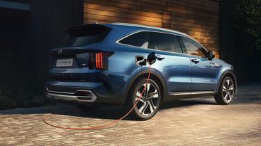 2020 Kia Sorento SUV plug-in hybrid - rear 3/4 static charging