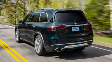 Mercedes GLS SUV rear 3/4 tracking
