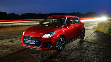 Suzuki Swift Sport mild-hybrid at night