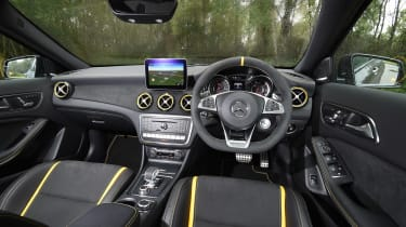 The upgraded Nappa leather sports steering wheel is also great to hold