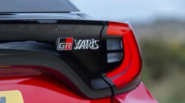 Toyota GR Yaris hatchback rear badges