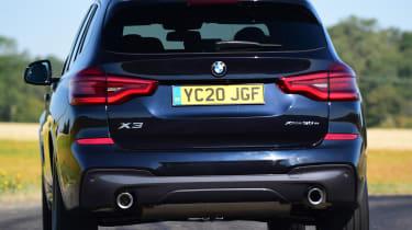 BMW X3 SUV rear cornering