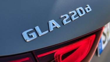 Mercedes GLA SUV rear badge