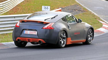 Nissan 370Z mule rear view