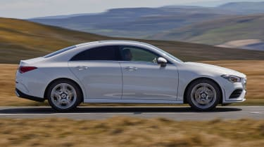 Mercedes CLA saloon side panning