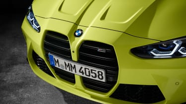 2021 BMW M4 Competition Coupe - front kidney grilles close up