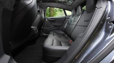 Tesla Model S saloon rear seats