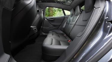 Tesla Model S saloon rear seats