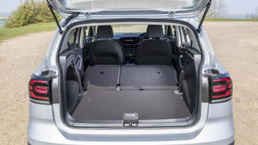 VW T-Cross boot with seats down