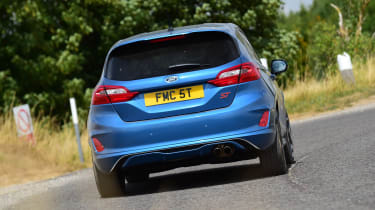 Ford Fiesta ST hatchback rear cornering