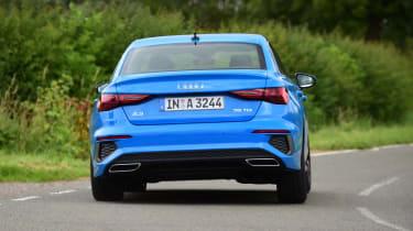 Audi A3 saloon rear driving