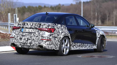2021 Audi RS3 saloon prototype driving - rear