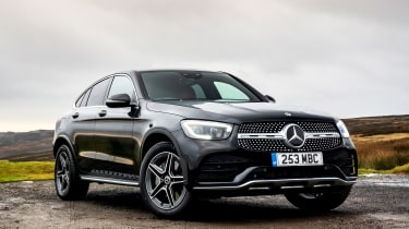 Mercedes GLC Coupe SUV front 3/4 static