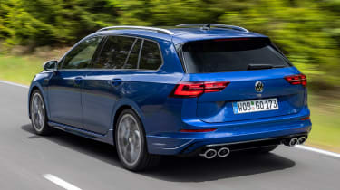 2021 Volkswagen Golf R Estate - rear 3/4 moving
