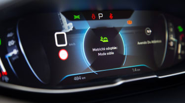 The i-Cockpit display can show sat nav directions, saving you from glancing at a secondary screen