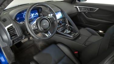 2020 Jaguar F-Type interior - side view
