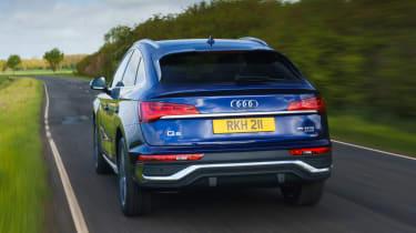 Audi Q5 Sportback SUV - rear 3/4 view dynamic