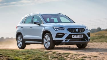 SEAT Ateca SUV front 3/4 off-road