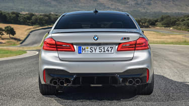 BMW M5 Competition - rear view static