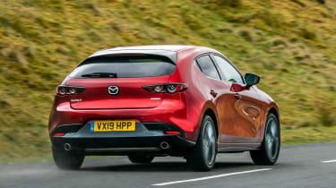 Mazda3 hatchback rear 3/4 cornering