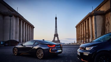 2019 BMW i8 Ultimate Sophisto Edition, 2019 BMW i3 Edition RoadStyle - rear 3/4 static