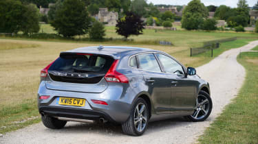 The V40 isn't the sharpest car in its class, but can still entertain behind the wheel...