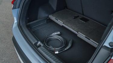 Audi Q4 e-tron SUV charging cable storage