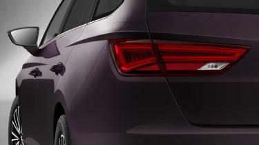 Close up of SEAT Leon ST LED tail-light