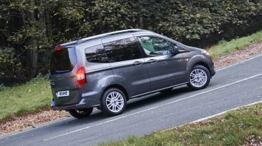 Ford Tourneo Courier on hill