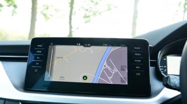 Skoda Kamiq SUV sat-nav display