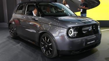 Honda e production version - 3/4 front static view at Frankfurt