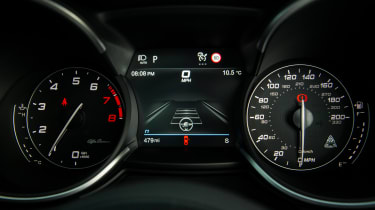 Alfa Romeo Stelvio Quadrifoglio SUV - dial cluster