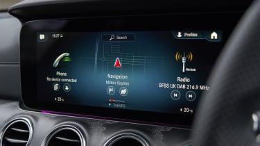 Facelifted Mercedes E-Class estate infotainment screen