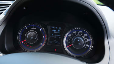 The dashboard dials are clear and simple
