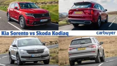 Kia Sorento vs Skoda Kodiaq - hero image