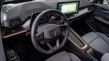 Cupra Born hatchback steering wheel