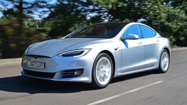 Tesla Model S - front 3/4 view