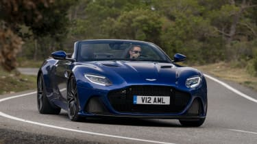 Aston Martin DBS Superleggera Volante nose cornering