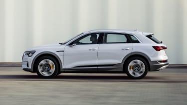 Audi e-tron 50 quattro driving - side view