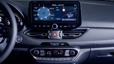 Facelifted Hyundai i30 N touchscreen