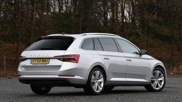 Skoda Superb Estate rear 3/4 static