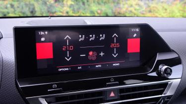 Citroen C4 hatchback infotainment display